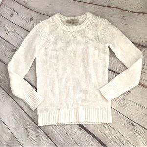 🖤Ann Taylor Loft Pearl Ivory Sweater XXSP